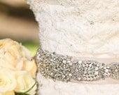 Sasha Bridal Sash, Beaded Sash, Wedding Dress Sash, Crystal Belt, Embellishment, Applique