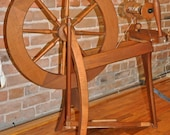 RESERVED FOR Kirsten Ashford Traditional Saxony Spinning Wheel Vintage Working