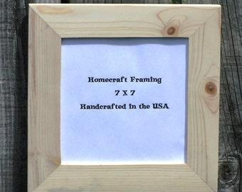 7X7 Picture Frame Unfinished Wedding Frame Wood Frame Cottage Chic Rustic