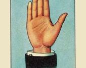 """A retro hand made MEXICAN  Lotería """"bingo"""" greeting  card"""