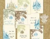 Crystal Grove Vintage Style Printable Editable PDF DIY Wedding Trading Cards