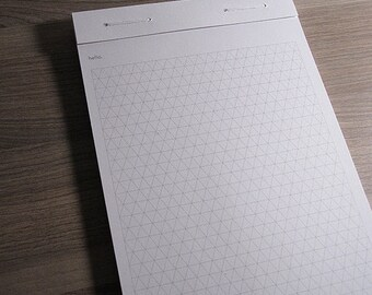 Notepad - Simple Triangle Grid. Perforated sheets. Eco Friendly