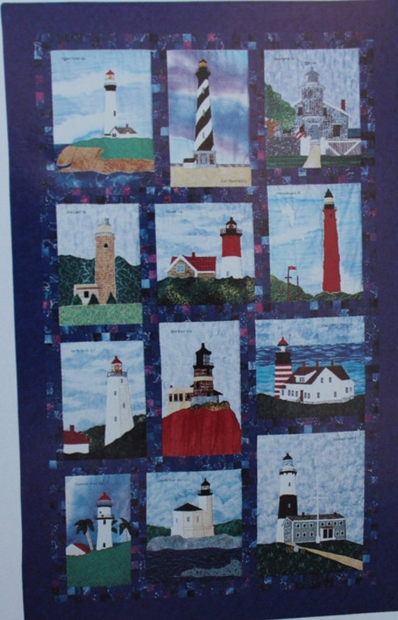 Lighthouse Quilt Pattern : Beacons of Light / Lighthouse Quilt Patterns / Block of the