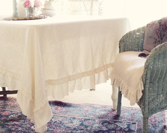 Shabby Layered Torn Ruffle Throw