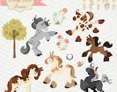 Instant Download - Pretty Ponies: Digital Clipart Set