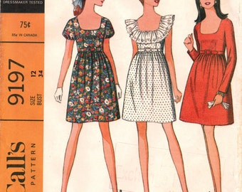 McCall's Vintage Dress Pattern c1968