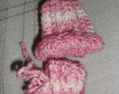Preemie  hats and booties.