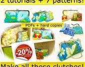 Clutch PDF and hard copies - 2 tutorials & 7 patterns