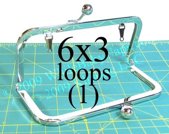 6x3 Nickel-free metal purse frame(TM) with LOOPS