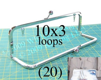 22% OFF 20 Nickel-free 10x3 purse frame kisslock with LOOPS
