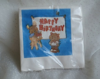Package of Get Along Gang Birthday Party Napkins Vintage 80s Craft or Party Supply