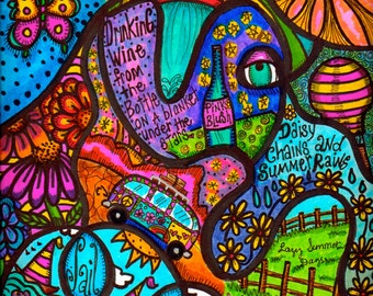 Hippie Art, Original, Summer Dreams