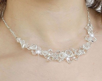 Statement Wedding Necklace. Chunky Wedding Necklace, Crystal Wedding Necklace, Wedding Jewelry Crystal