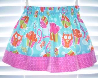 Owl Print Skirt