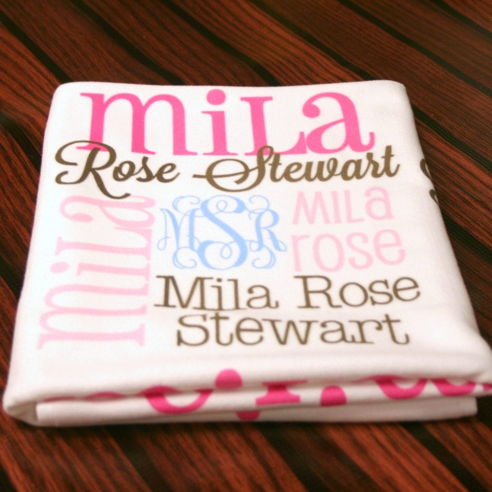 Personalized Baby Blanket Monogrammed Baby by ...