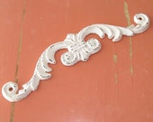 Shabby Cottage Chic Cast Iron Small Decorative Scroll - Distressed Antique Nightdress White
