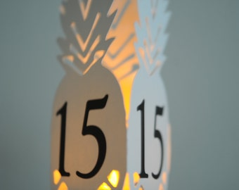 Pineapple Table Number Lantern