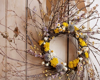 Lavender and Thistle Wreath