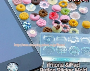 Lovely button iPhone soft mold. Floree push button moulds/mold. Eight  sweet designs in one mold