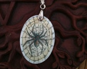 Spider Totem Animal Mother of Pearl Amulet by Mickie Mueller