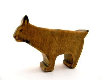 waldorf bobcat toy wooden animal eco friendly lynx cat