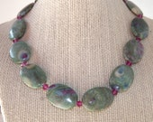 Zoisite and Orchid Necklace