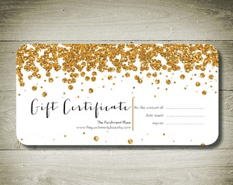All that glitters custom personalised gift certificate for Make your own gift certificate template