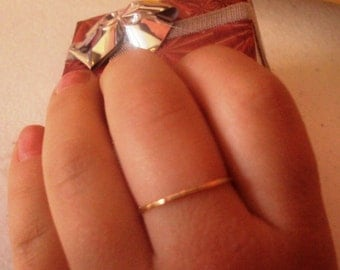 14kt SOLID Gold, stacking ring, handcrafted, wedding, engagement, mothers gift, thin and dainty