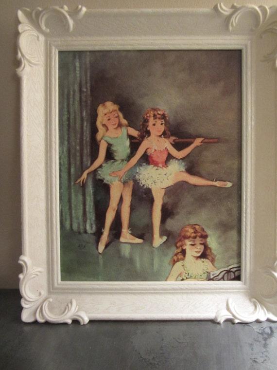 Vintage Framed Print Of Ballerina Girls By Myfancies On Etsy