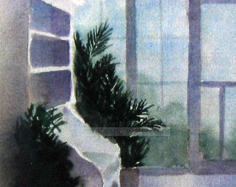 "Cape May porch watercolor archival print 8"" x 10"""