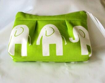 Small Zippered Elephant Clutch