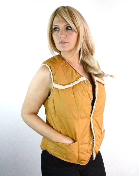 Vintage 70's Goose Down Unisex Vest Small/Medium