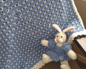 Baby Afghan with Matching Bunny