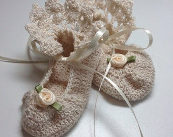 Antique Lace Booties