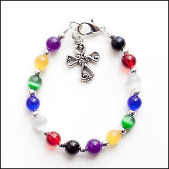 Christian Charm Bracelets: Items Similar To Colors Of Faith Salvation Christian