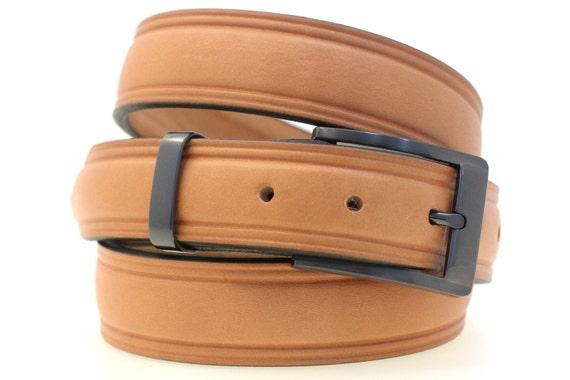 1 1 4 s domed dress belt light brown