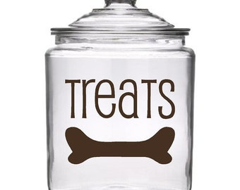 Dog Treat Canister (not included) Vinyl Decal Kit Bone