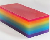 Over the Rainbow Glycerin Soap Loaf for Rainy Days or Birthday Gifts ROYGBIV