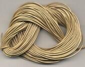1.8 mm Leather Cord  Metallic Gold 25 meter Hank