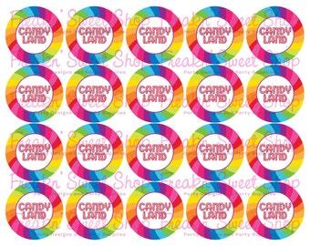 Candy Land Tags PDF file