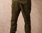 Grass green harem pants