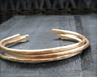 Skinny Stacking Bangles Brass