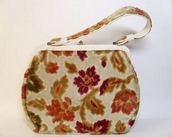 Vintage 1960's Chenille Handbag