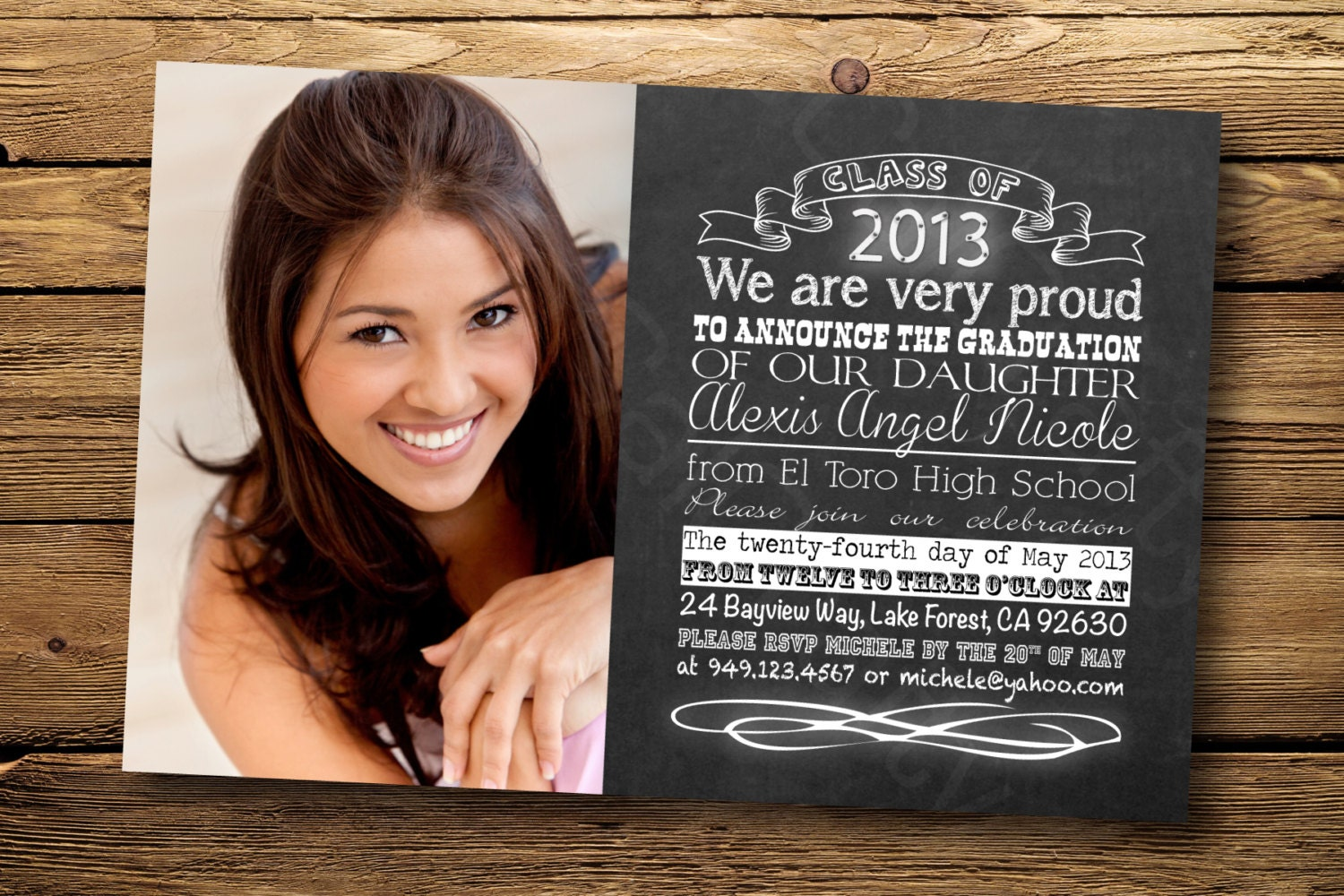 Graduation Photo Party Invitations as awesome invitation layout