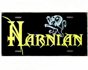 C. S. Lewis Chronicles of Narnia Car Tag Narnian License Plate