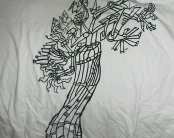 Abstract tree tee shirt-Large-Men's