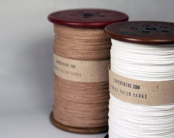 Medium Paper Twine on an Old Vintage Bobbin / available in White and Natural/Kraft