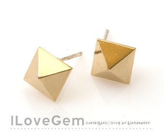 NP-1457 Gold plated, Earring, 925 sterling silver post, 2pcs