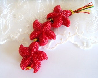 Red Resin Starfish Cabochon 25mm- 1 piece