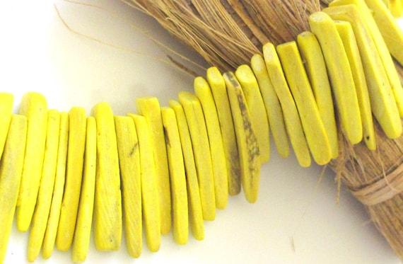 Natural coconut sticks 50 sticks -  NB002 - Yellow